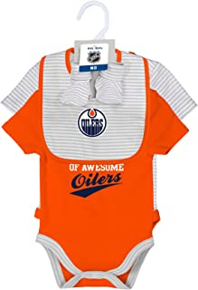 Outerstuff NHL Layette Newborn Team Awesome 2Piece Onesie, Bib & Bootie Set
