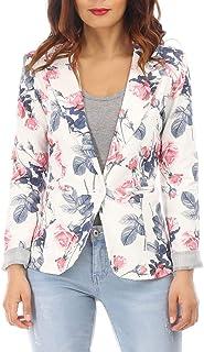 b91b3d1795624 Amazon.fr : veste fleurie femme - Blazers / Tailleurs : Vêtements
