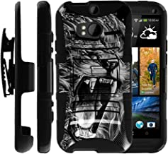Untouchble Case for HTC One M8 Holster Case | HTC M8 Case [Heavy Duty Clip] Dual Layer Rugged Hybrid Armor [Kickstand] [Swivel Holster] - Roaring Lion