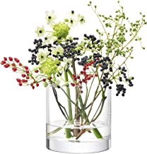 LSA International CO19 Column Vase/Candleholder H12 x Ø12cm Clear