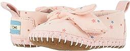Ballet Pink Star Print Microsuede