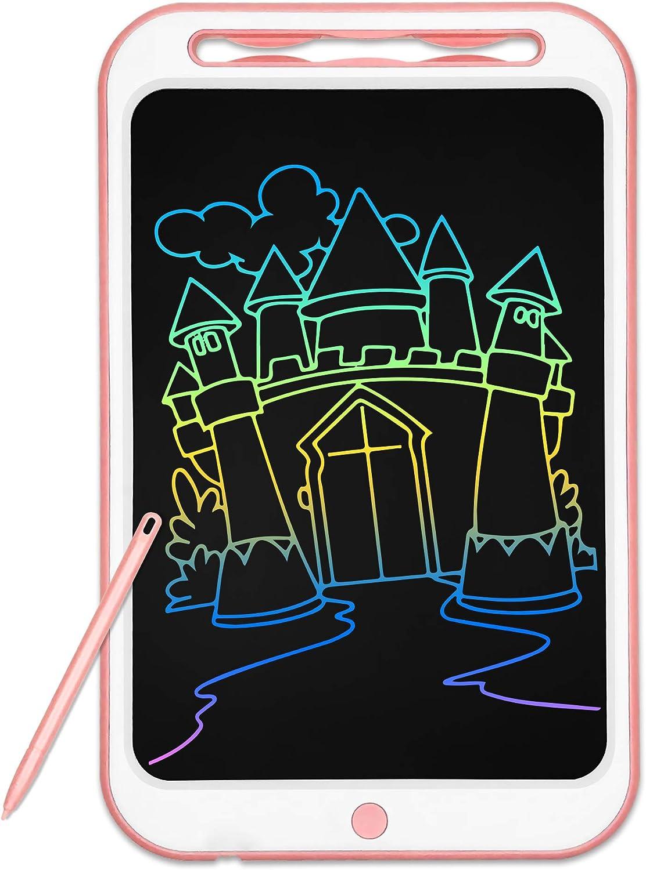 Richgv Tableta de Escritura LCD de 12 Pulgadas, Tableta LCDWriting, una Llave para borrar, Tabla de Pintura Doodle, portátil, Regalo para niños, Escuela, Familia, Adultos, Oficina