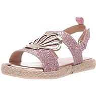 OshKosh B'Gosh Kids Oceana Girl's Glittery Espadrille Sandal Wedge