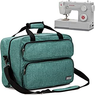 HOMEST Sewing Machine Carrying Case, Universal Tote Bag with Shoulder Strap Compatible with Most Standard Singer, Brother, Janome (Green)