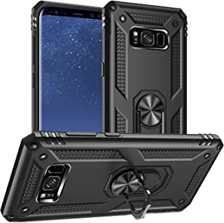 Pegoo Galaxy S8 Plus (Galaxy S8+) Case,Silicone Impact Resistant Hybrid Heavy Armor with Bracket Bumper Cover Case for Sam...