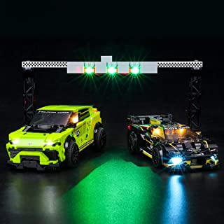 BRIKSMAX Led Lighting Kit for Lamborghini Urus ST-X & Lamborghini Huracán Super Trofeo EVO - Compatible with Lego 76899 Bu...