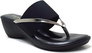hype Women's Multi Vital Cross Strap Comfort Slip On ZD6140