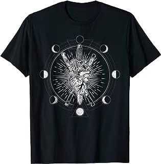 Moon Phases Heart Knives - Alchemy Tarot T-shirt Gift
