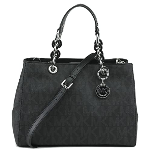 41d6d1b64cc04e Michael Kors Handbag Cynthia Signature Medium Satchel Black