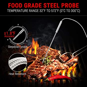 ThermoPro TP22 Digital Wireless Meat Thermometer for Grilling with Dual Probe Food Cooking Thermometer for Smoker BBQ...