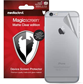 MediaDevil Apple iPhone 6 Plus / 6S Plus Back (Rear) Screen Protector, Matte Clear [2 x Back Protectors]