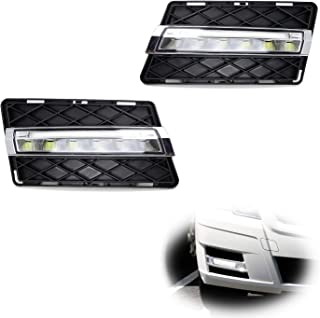 iJDMTOY Xenon White LED Daytime Running Lights For 2009-12 Mercedes X204 GLK Class, (2) OEM Fit DRL Assy Each Powered by 6 Pieces High Power Osram LED Lights