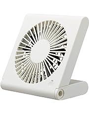ドウシシャ 卓上扇風機 スリムコンパクトファン 3電源(AC,USB,乾電池) 風量3段階 ピエリア