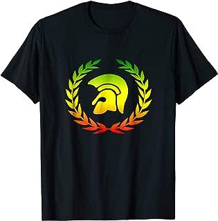Trojan Helmet Laurel Wreath T-Shirt Reggae Dub Ska