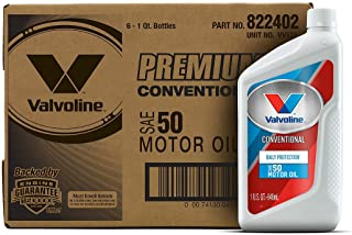 Best Valvoline Daily Protection SAE 50 Conventional Motor Oil 1 QT, Case of 6 Reviews
