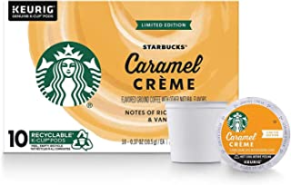 Starbucks Caramel Crème Flavored Coffee K-Cup Pods | Light Roast Coffee Pods for Keurig Brewers, (1 Box Of 10 Count Pods)