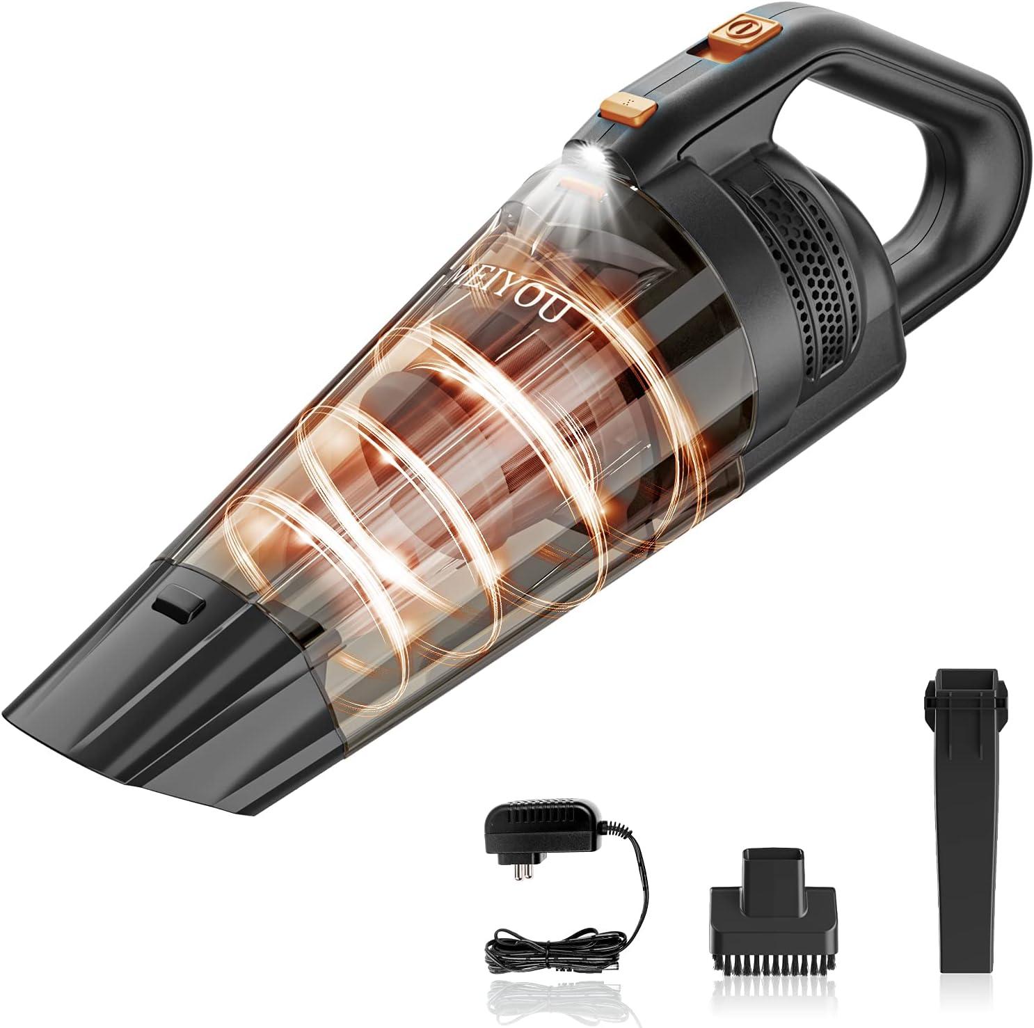 MEIYOU Handheld VacuumCordless PortableLightweight PowerfulRechargeable  9KPA 100W Strong Suction