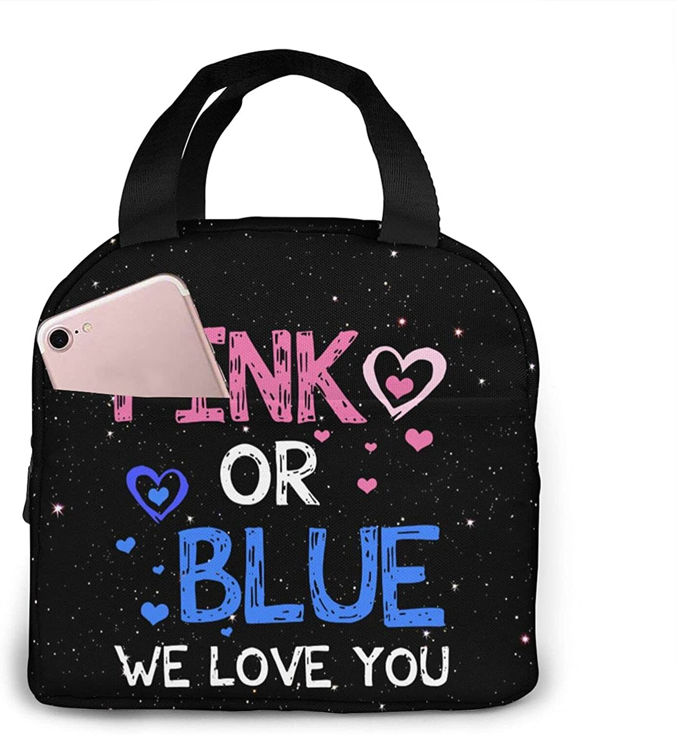 Pink Or Blue Boy Girl We Tote Love Convenient Easy-to-use Challenge the lowest price of Japan ☆ You Lunch Baby