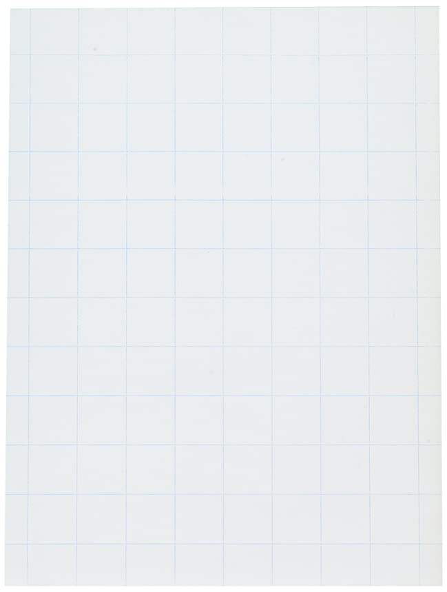 School Smart Graph Paper, 1 Inch Rule, 9 x 12 Inches, White, Pack of 500