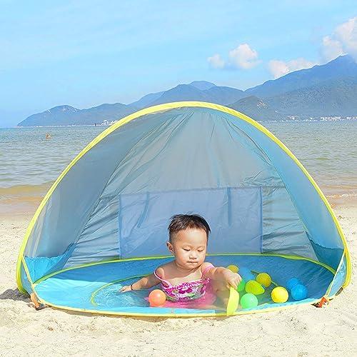 Tienda de Playa para el Bebé NHSUNRAY Instantáneas Refugio con Sistema Pop-up con Mini