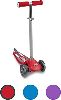 Radio Flyer Lean 'N Glide Scooter with Light up Wheels, 3 Wheel Toddler Toy, Ages 3+