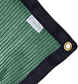 e.share 70% Green Shade Cloth Taped Edge with Grommets 12 ft X 14 ft