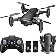 AKAMINO Mini Drone 2.4GHz Foldable Pocket RC Quadcopter with Headless Mode, 3D Flips, One Key...