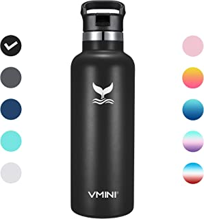 Vmini Water Bottle - Standerd Mouth Stainless Steel & Vacuum Insulated Bottle, New Straw Lid with Wide Handle, 22 oz