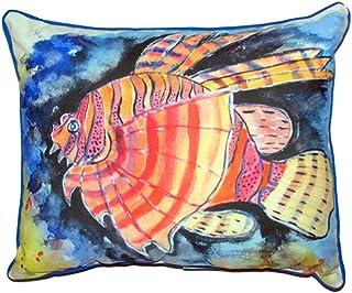 """Betsy Drake SN451 Betsy's Lion Fish Pillow, 11"""" x14"""""""