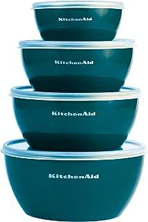 Kitchenaid KC176BXDTA Prep Bowls with Lids, Set of 4, Deep Teal
