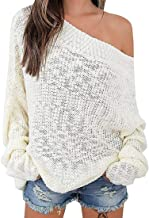 sweater that hangs off one shoulder