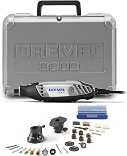 Best Dremel 3000-2/28 Variable Speed Rotary Tool Kit- 1 Attachments & 28 Accessories- Grinder, Sander, Polisher, Router, and Engraver- Perfect for Routing, Metal Cutting, Wood Carving, and Polishing Review