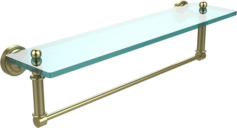 Allied Brass DT-1TB 22-SBR Glass Shelf with Towel Bar, 22-Inch x 5-Inch
