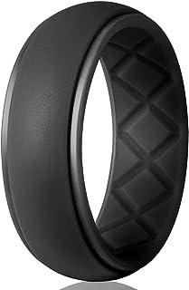 حلقه عروسی Egnaro Silicone برای آقایان ، بخصوص دسته های عروسی لاستیکی مخصوص مردان قابل تنفس ، اندازه 8 9 10 11 12 13 ، برای ورزشکاران Crossfit تمرین