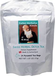 Künzle Swiss Herbal Detox Tea. Made in Switzerland from the original body cleanse tea formulation from Father Herbalist Künzle.