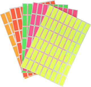 Royal Green Colored Rectangular Labels in Neon Colors 1in x 3/8in (25mmx10mm) - 270 Pack