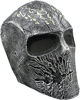 OSdream Outdoor Tactical Full Face Terrorist Deadpool Mask Paintball Mask Skull King for Men (Glass Fiber Reinforced Plastics)
