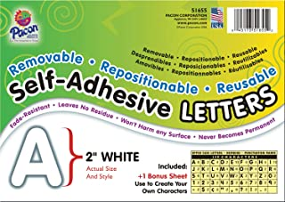 Pacon Self-Adhesive Letters, White, Puffy Font, 2