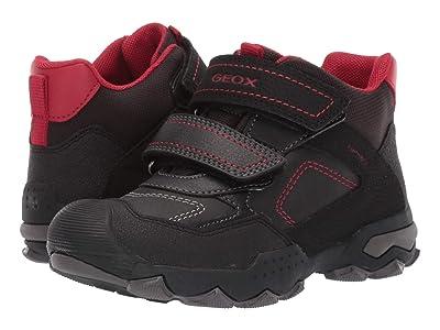 Geox Kids Jr Buller Babx 2 (Little Kid/Big Kid) (Black/Red) Boys Shoes