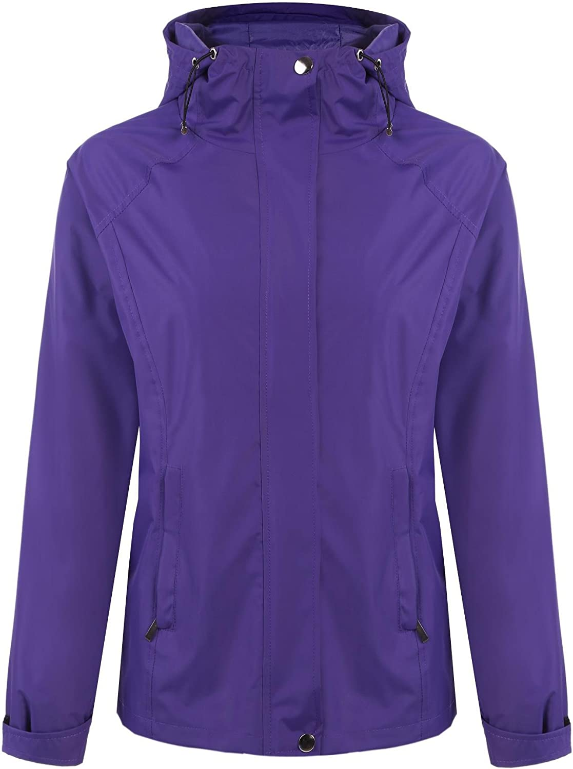 Elesol Women's Long Sleeve Zip Up Hoodie Waterproof Rain Jacket Venture Jacket