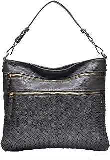 Triple Zip Pocket Medium Shoulder Bag for Women by JolieLey Galanti