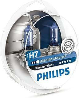 Philips Diamond Vision 5000K H7 Car Headlight Globes (Twin Pack) 12972DVS2