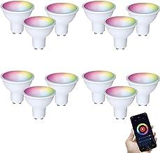 FlinQ GU10 Smart Lamp 12 stuks Smart Lamp | Smart Led Lamp | WIFI Smart Bulb Compatibel met Alexa en Google Assistant | Sm...