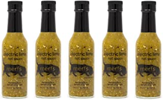 Merfs Condiments Hot Sauce (Electric Lime, 5 pack)