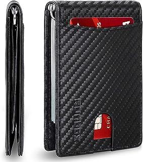 Minimalist Slim Wallet for Men with Money Clip RFID Blocking Front Pocket Leather Mens Wallets