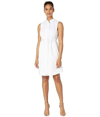 Calvin Klein Cotton Dress w/ Ties at Waist (White) Women