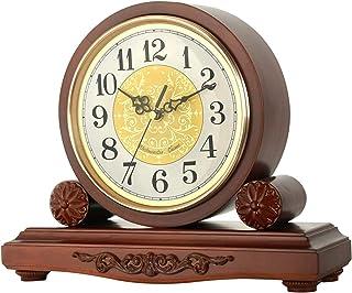 Skorsten klocka, trä vardagsrum tyst klocka dekorativa batteri stående kappa hyllor klocka manövrerad, öppen spis, kontor,...