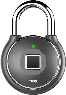 Tapplock one+ Gun Metal Fingerprint Bluetooth Biometric Keyless Smart Padlock