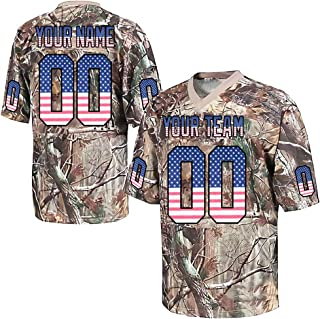 Custom Camo Salute to Service Replica Football Jersey Embroidered Team Name and Your Numbers