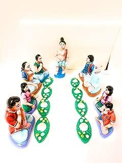 Sitting sappadu Set navarathri golu Dolls